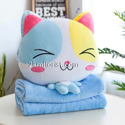 3in1 Cat Cushion Pillow Blanket