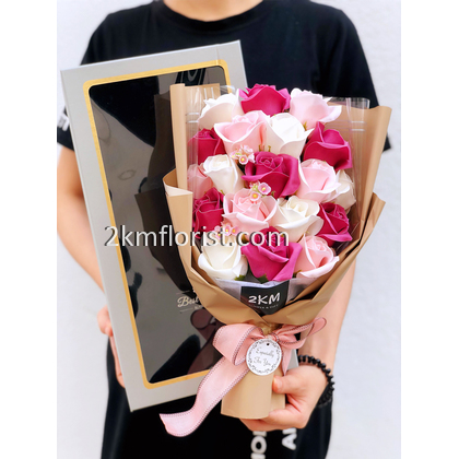 19pcs Stylish Rose Soap Bouquet