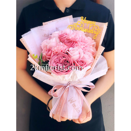 19pcs Korea Style Rose Soap Bouquet