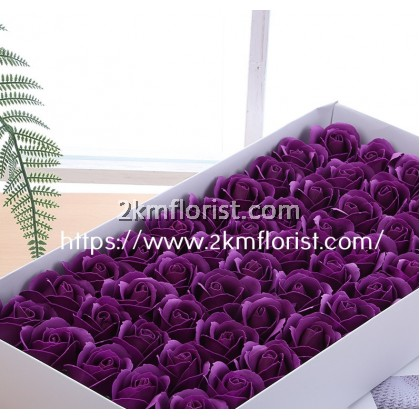 50pcs 3 Layer Rose Soap Flower With BASE BARE