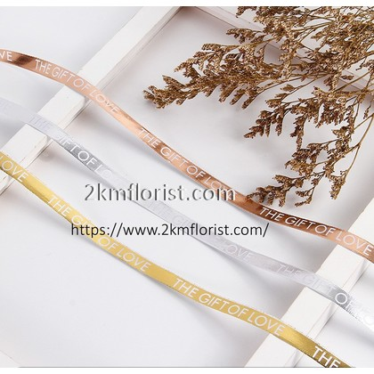 1cm (18.288meter) Gold Rosegold Silver Packaging Ribbon